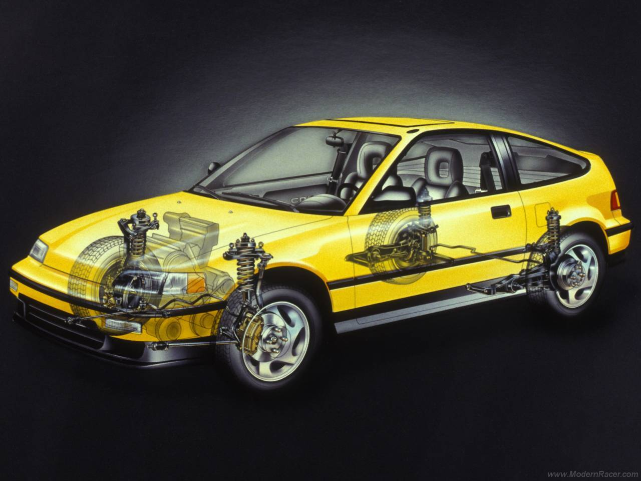 Honda Civic CRX - Car Cutaway - Modern Racer - Features