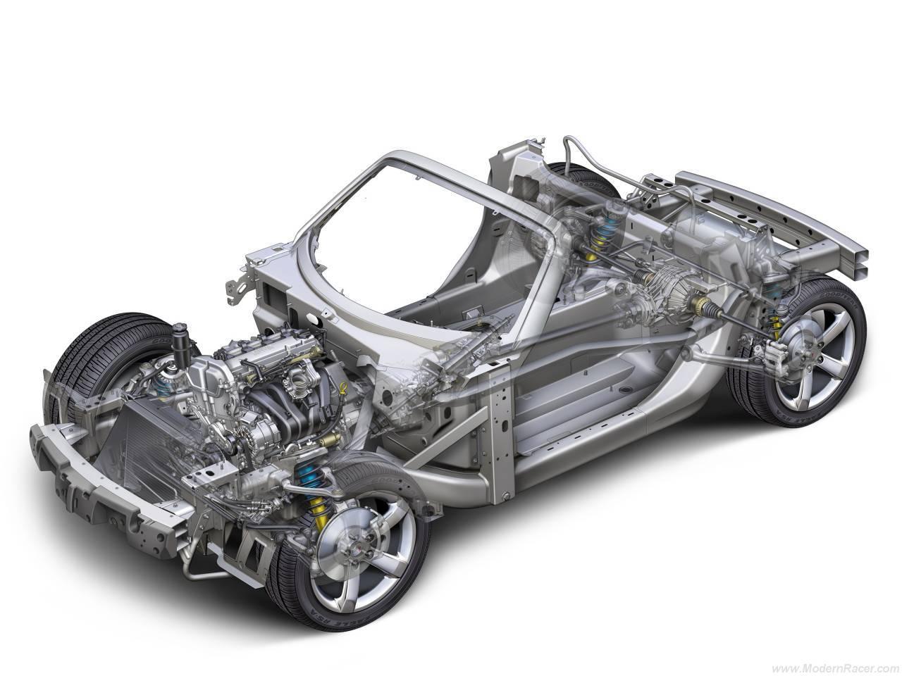 Design of car frame - Pontiac Solstice Cutaway Click To Enlarge