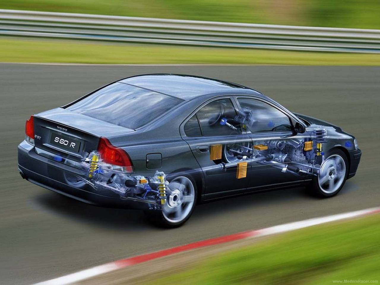 Volvo S60 2002 Tuning >> Volvo S60 R - Car Cutaway - Modern Racer - Features