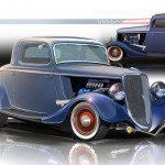 1934 Ford 3-Window Coupe EcoBoost Hot Rod
