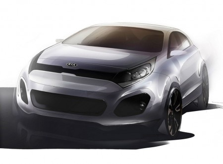 Aventador Roadster Sketch on 2012 Kia Rio Sketches Released   Modernracer Cars   Commentary